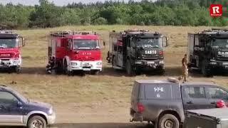 Pożar lasu na poligonie drawskim. OSP Resko uczestniczyło w akcji