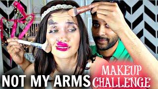 Not My Arms Makeup Challenge W/ My Boyfriend | DAY 6 SHAEMAS