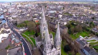 Flight over Cork city, Ireland