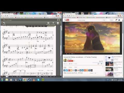 Sword Art Online - A Tender Feeling Piano Sheet Music