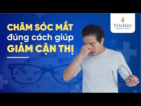 Chăm sóc mắt đúng cách giúp giảm cận thị