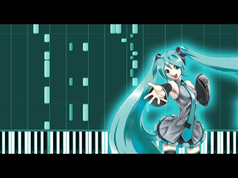 Rolling Girl  Vocaloid Piano Tutorial  Synthesia