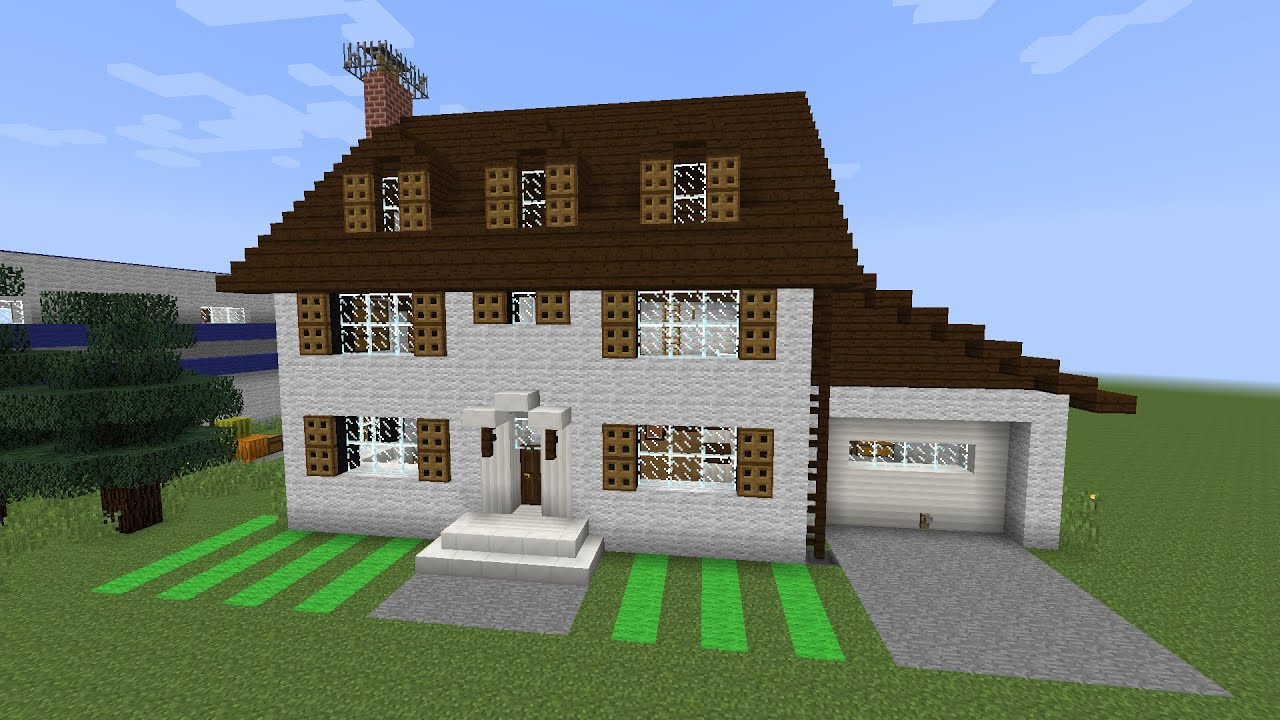 Classic american house minecraft speed build youtube for American classic house mouse