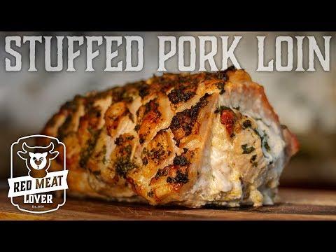 Cheesy Stuffed Pork Loin In Oven - PERFECT Boneless Pork Loin Recipe!