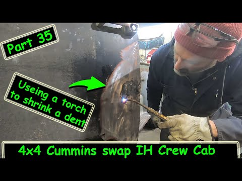 Shrinking the door dent in the International crew and start working on the stacks