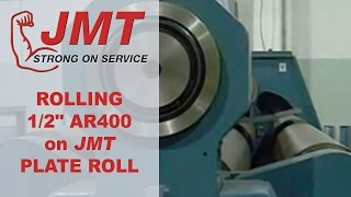 plate roll   rolling ar400 with jmt plate roll
