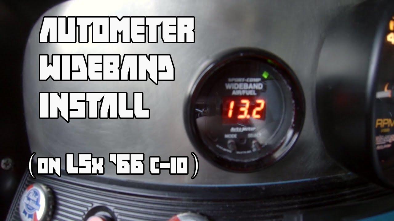 autometer wideband gauge install rev j hd [ 1280 x 720 Pixel ]