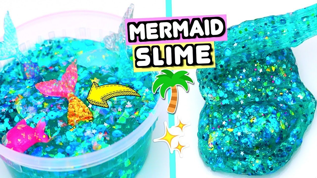 How To Make MAGICAL MERMAID SLIME!  Slimes Ideas For Summer 2018!