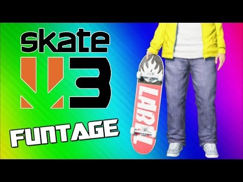 Thumbnail: Skate 3 Funny Moments - Wipeouts, Tornado, Hall of Meat, Coffin, Flying Banana, Slam Dunk!