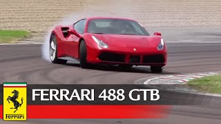 "Ferrari 488 GTB - Full attack mode on the ""home track"" of Fiorano"