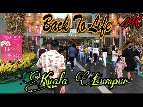 Kuala Lumpur Has Come Back To Life 😍   City Lockdown Is Over Bukit Bintang 4K Malaysia Walk Tour