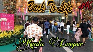 Kuala Lumpur Has Come Back To Life 😍 | City Lockdown Is Over|Bukit Bintang|4K Malaysia Walk Tour