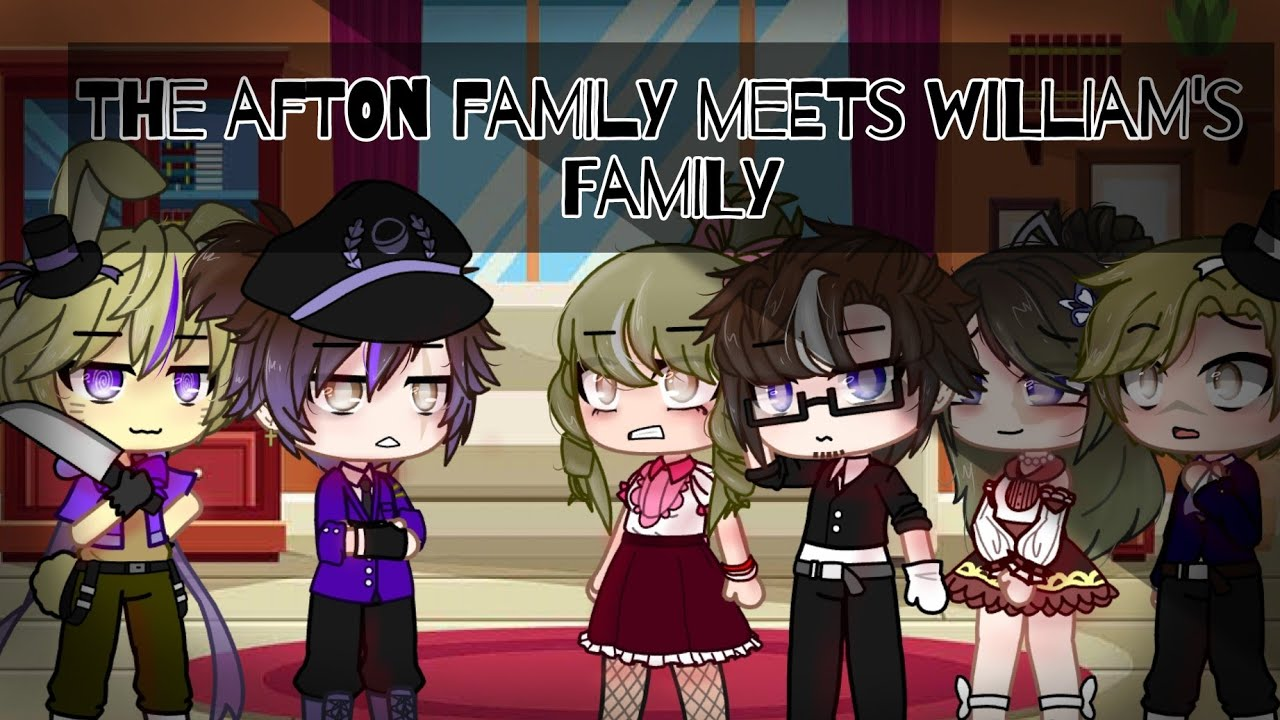Download The Afton family meets William's family || Part 1 || Gacha Club || • Little Blueberry •