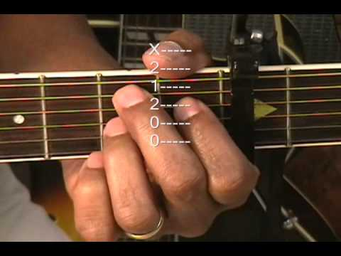 Guitar Chord Form Tutorial #34 ~ Guitar Lesson Capo 3 Am7 Em7 D G B7 ...