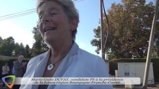 Marie-Guite DUFAY - Visite dans l'Yonne - Édition 2015 à Avallon (89)