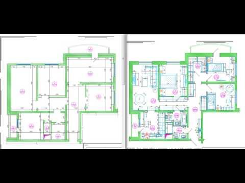 Перепланировка четырехкомнатной квартиры в доме серии КОПЭ-Парус