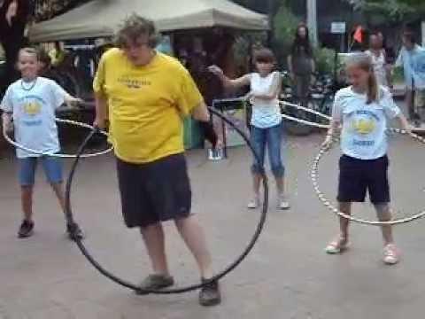 West Buncombe Elementary School Hula Hoop Team.