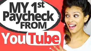MY FIRST YOUTUBE PAYCHECK: How Much I Made With 3,500 Subscribers & How YouTube Ads Revenue Works