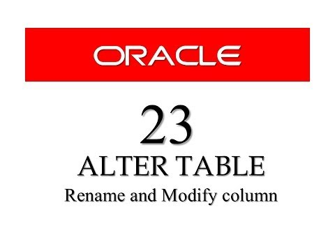 SQL tutorial 23: Rename and Modify Column Using Alter Table By Manish Sharma (RebellionRider)