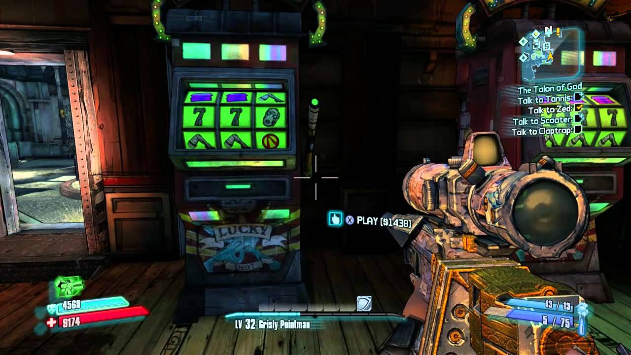 Borderlands 2 orange slot machine glitch