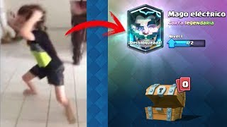 TOP 10 REACCIONES DE NIÑOS AL CONSEGUIR LEGENDARIA en Clash Royale