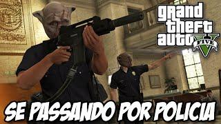 GTA V - Heist Fuga da Prisão , roubo do onibus e se passando por policiar DLC HEISTS