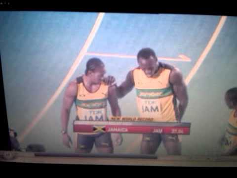 2011 IAAF World Championships: Jamaica 4x100m Mens World Record 37.04