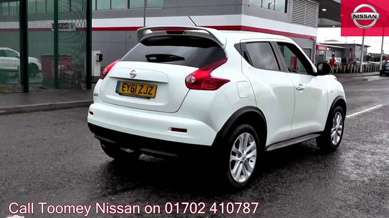 2011 nissan juke tekna arctic white ey61zjz for sale at toomey nissan southend youtube. Black Bedroom Furniture Sets. Home Design Ideas
