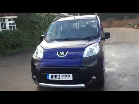 2012 (10 plate) peugeot bipper 1.4 hdi 70 outdoor tepee. full