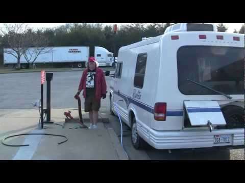 """""""How to get poop out of a camper.""""Pat O'Bryan on the road."""