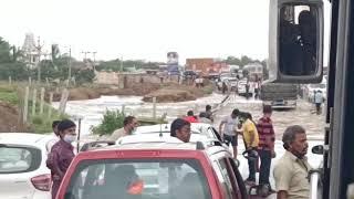 ఐదు సంత్సరాల తరువాత మళ్ళీ గూడూరు హైవే రోడ్ పైన వర్షపు నీరు ఇలా ... #NelloreRockss