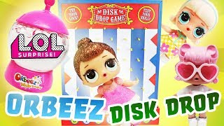 LOL Surprise Dolls Disk Drop Game w New Orbeez Magical Pets! Featuring Fancy, Angel, and Gogo Girl!