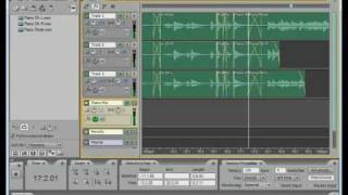 Adobe Audition 3 -  Piano editing (Patrick about Chapas pitures 130bpm cover)
