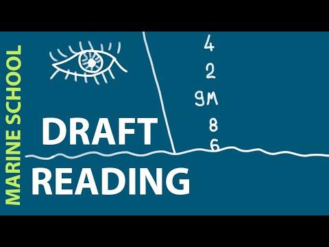 Reading ship's draft.