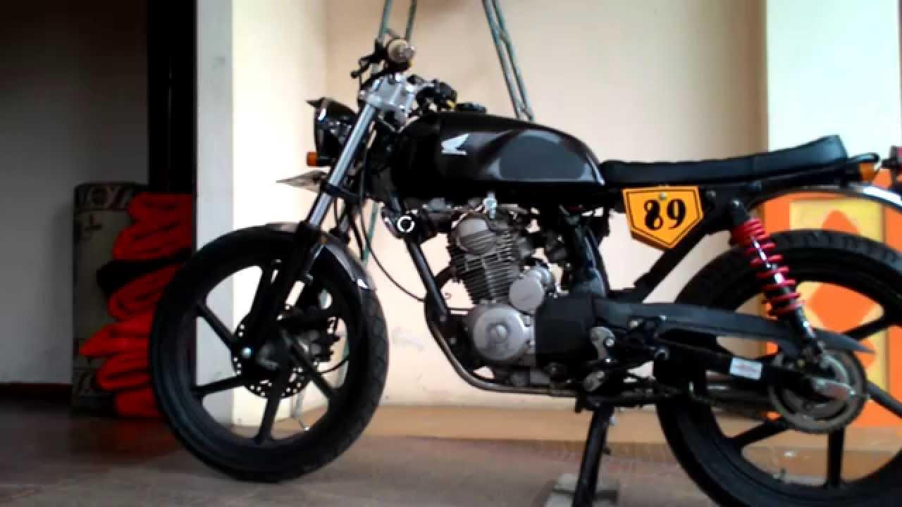 megapro gl 160d ( cafe racer, bratstyle, scramble) - youtube