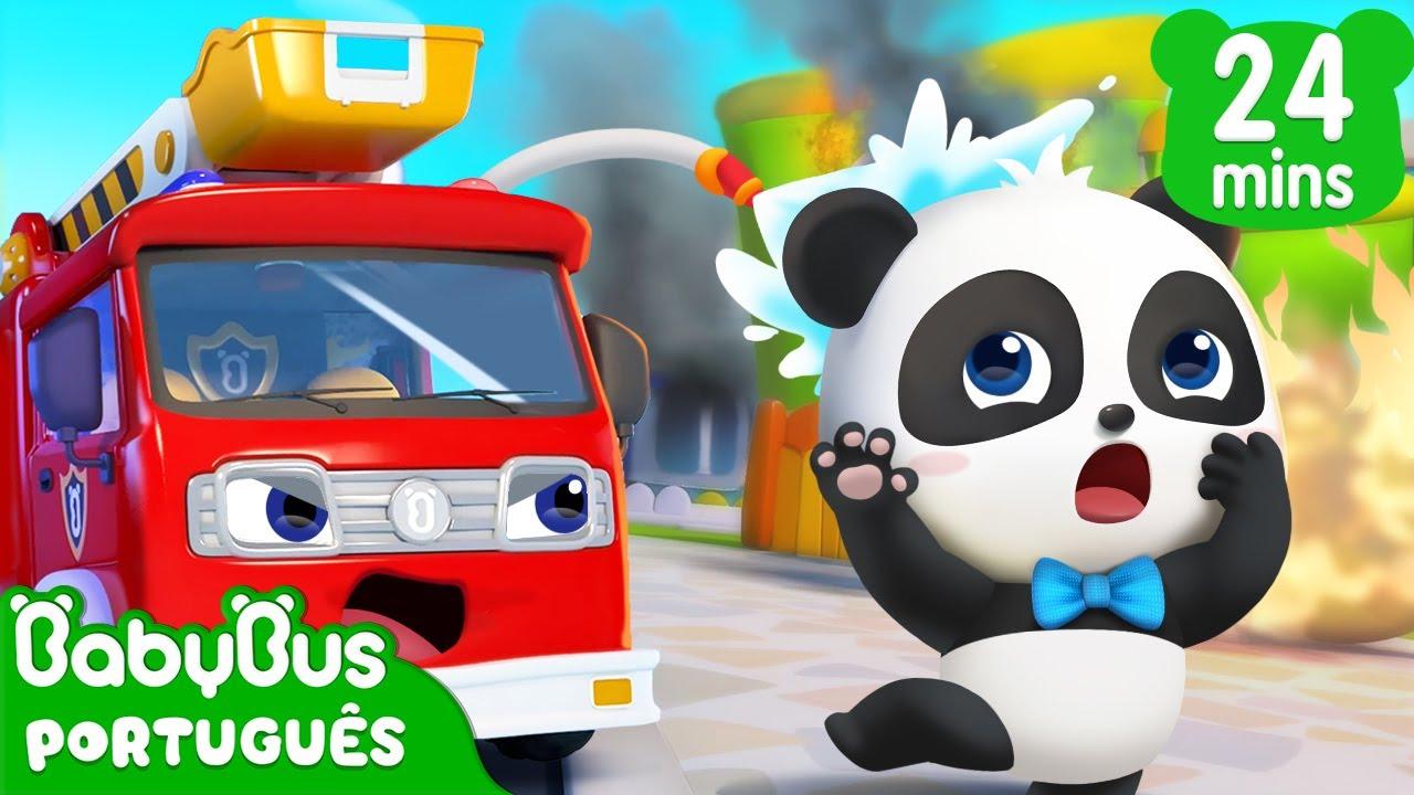 Caminhão de Bombeiro 🚒 | Carro Desenho | Desenho Infantil | BabyBus Português