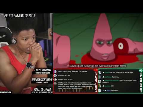 Etika Reacts To SpongeBob SquarePants Anime OP 1 (Etika Stream Highlight)