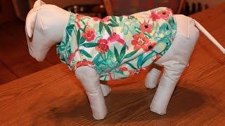 Шьем футболку для собаки. Своими руками. \ DIY Dog clothes. How to make a dog shirt.