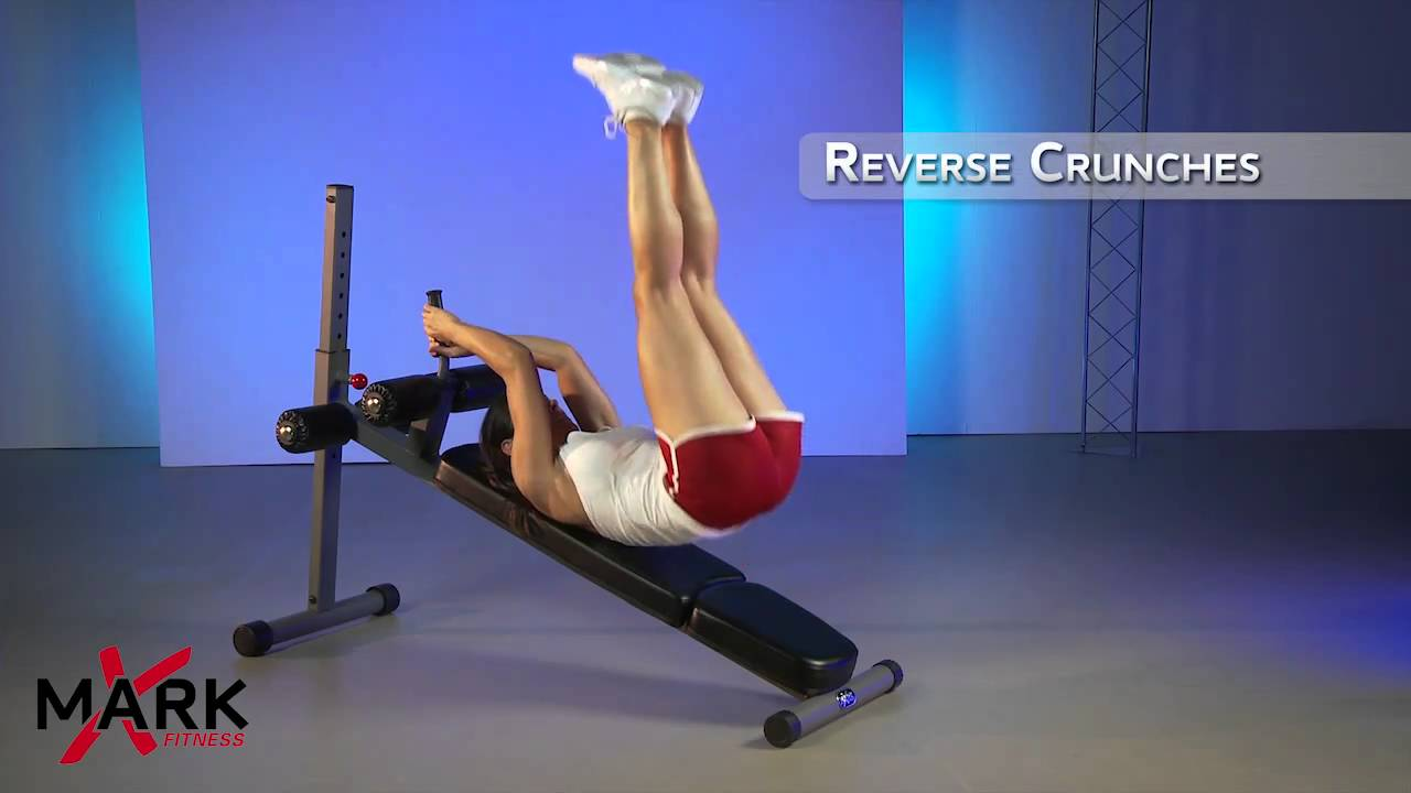 Xmark adjustable ab bench xm 7608 get a rock hard core workout youtube Abs bench