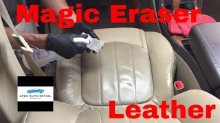 How.....and When to safely clean your leather seats with the Magic Eraser!!!