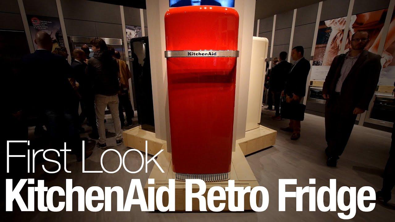 Retro Kühlschrank Kitchenaid : First look: kitchenaid retro refrigerator youtube
