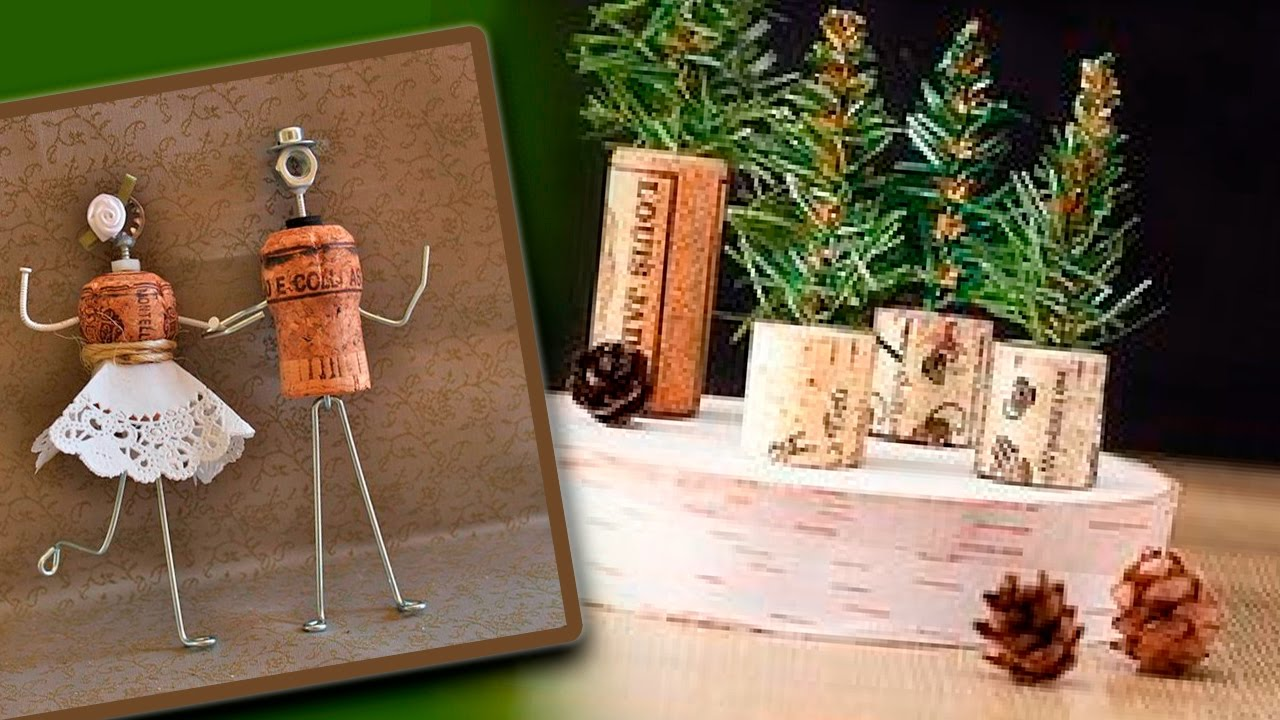 Diy christmas gifts made with wine corks