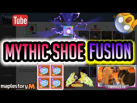 Maplestory M Fusing A MYTHIC Shoe- Emblem Fusion Featuring Kelly The Cat