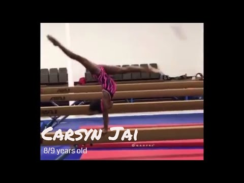 Carsyn Coleman 9 year old little gymnast training Level 9 and Hopes