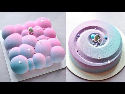 Satisfying Birthday Cake Video   So yummy Cake   Easy Cake Decorating ideas