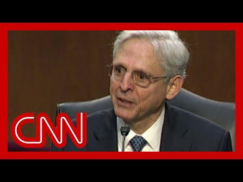 Merrick Garland gives emotional response to senator's question