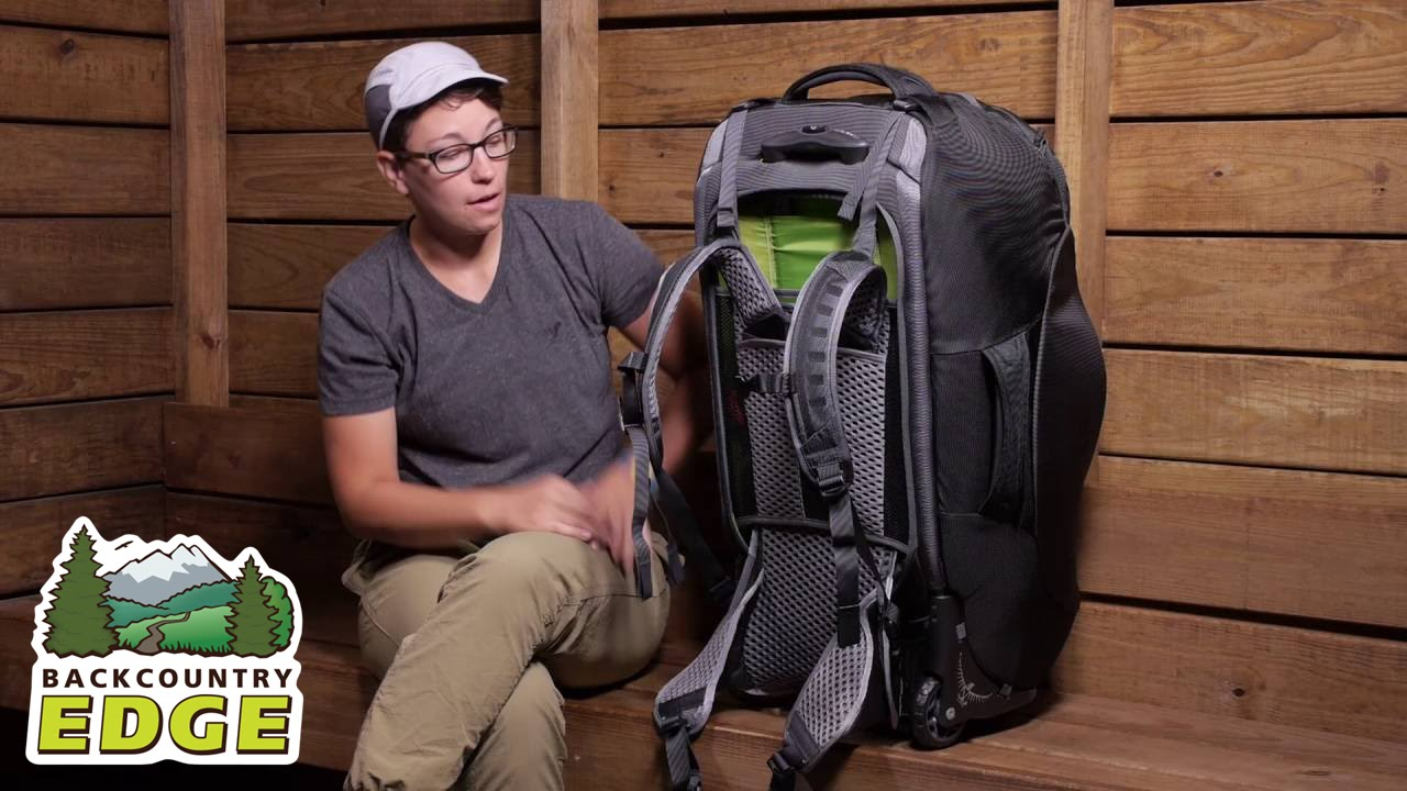 Osprey Sojourn 80 Wheeled Convertible Travel Pack - YouTube 8165a9245a239