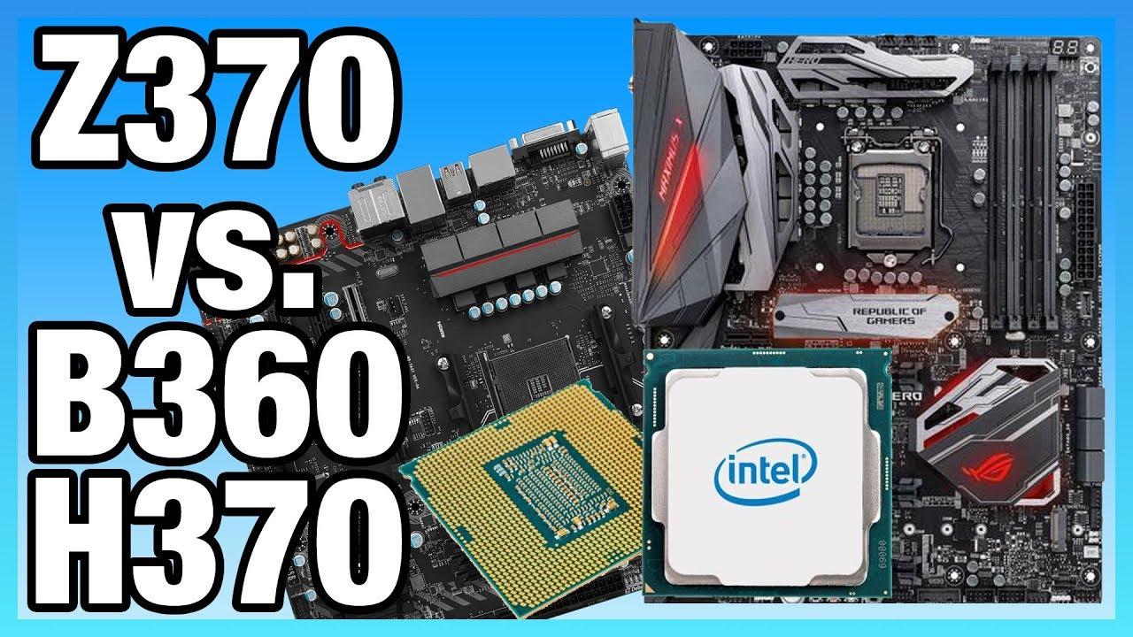 Intel Z370 vs  B360 Differences on i5-8400 & 8700K | Benchmark