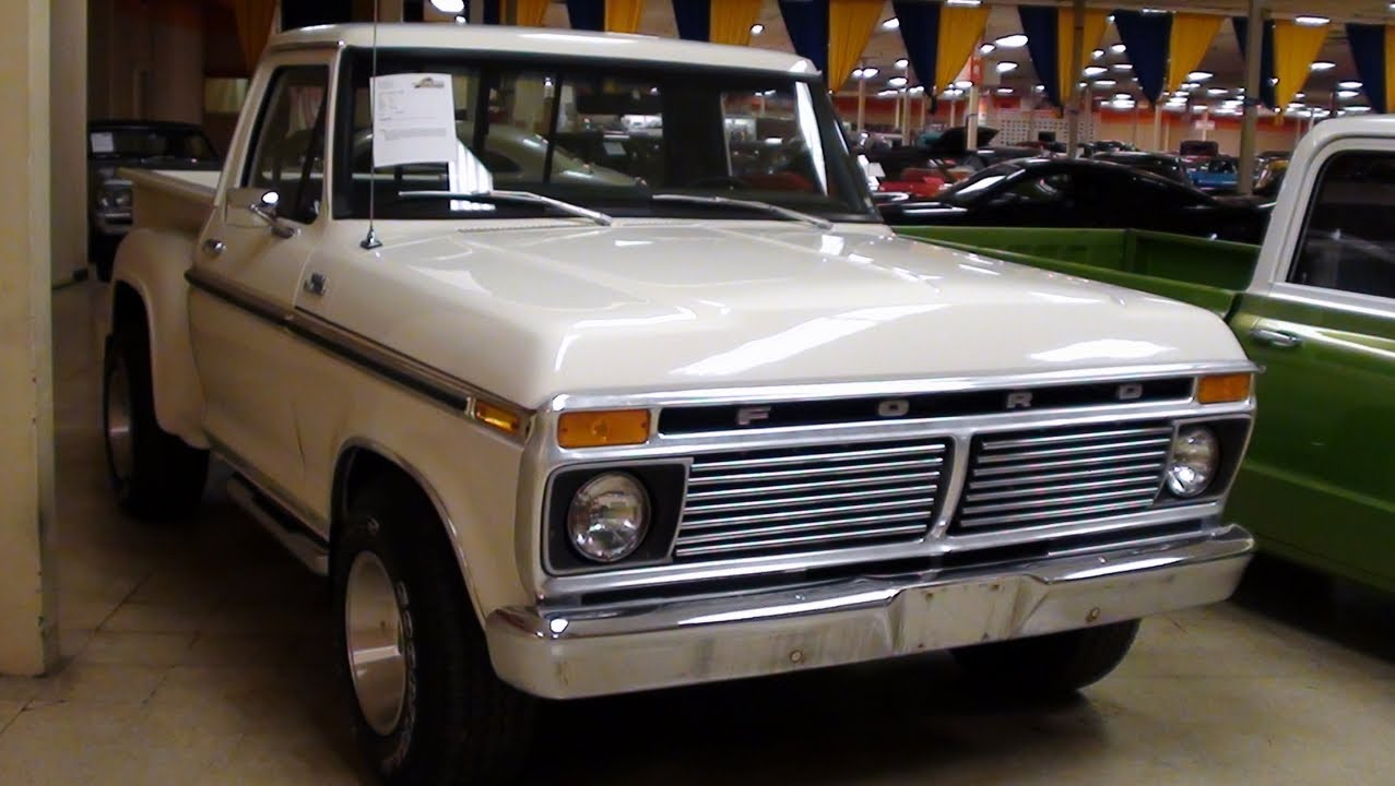 1977 ford f100 stepside pick up youtube. Black Bedroom Furniture Sets. Home Design Ideas