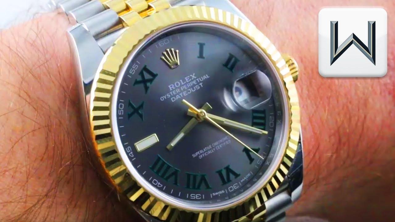 Rolex Datejust 41 Wimbledon Dial, Dark Rhodium, Rolesor Steel Gold 126333  Luxury Watch Review